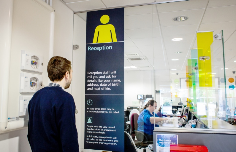 NHS reception information and guidance reduces anxiety